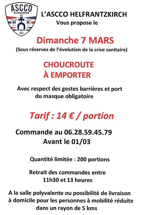 ASCCO Choucroute 07 mars