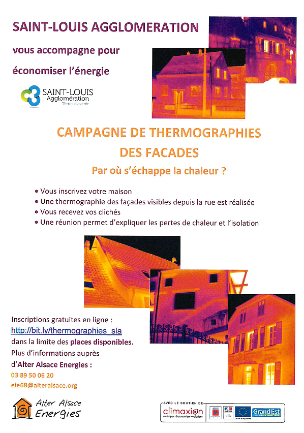 Thermographies des façades